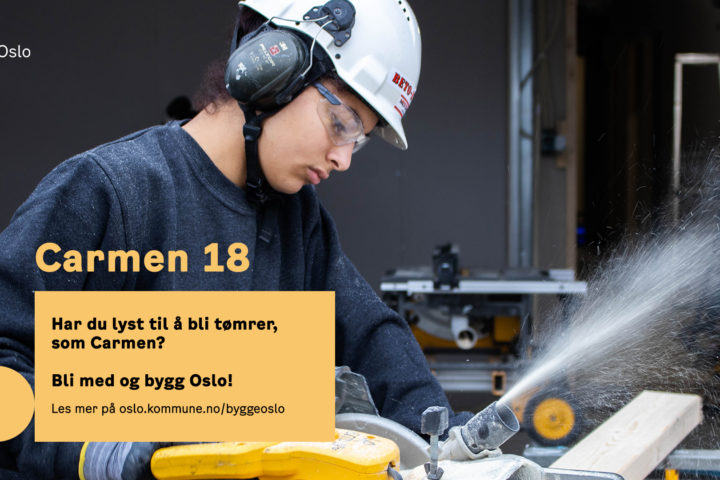 Oslo kommune vil trigge jenter til  å velge byggfag